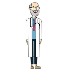 male doctor cartoon vector image