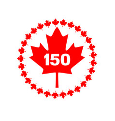 Maple leaf 150 canada graphic vector