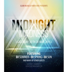 Midnight madness party template poster vector