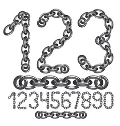 Modern numbers collection trendy numbers for use vector