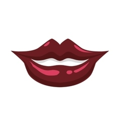 Mouth and smile icon Part of boby design vector image