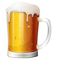 mug beer on a white background vector image