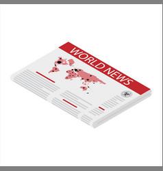 Newspaper world news concept vector