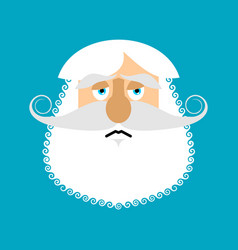 old man sad emoji senior with gray beard face vector image