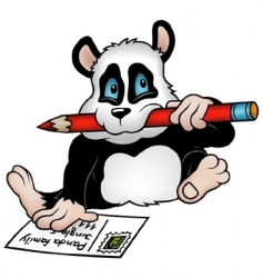 Panda and postcard vector
