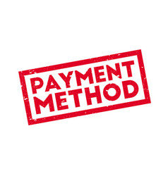 payment method rubber stamp vector image