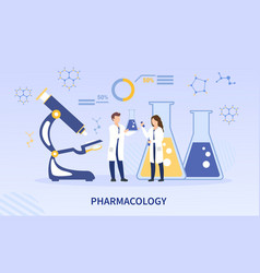 Pharmacology laboratory with scientists vector