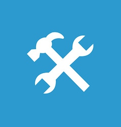 repair icon white on the blue background vector image