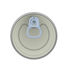 ring of the can to open of food aluminum cans vector image