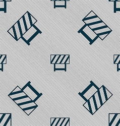 road barrier icon sign Seamless pattern with vector image