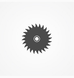 saw blade icon sign symbol vector image