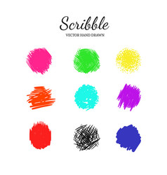 Scribble smears set 1 vector