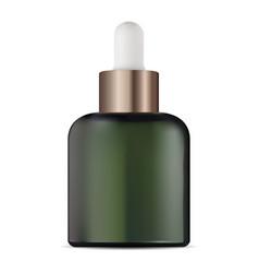 serum eye dropper bottle cosmetic glass packaging vector image