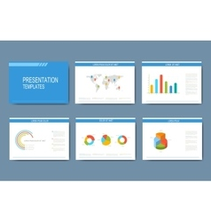 Set infographic templates vector