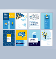 Set of brochure design templates of education vector