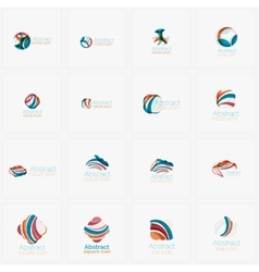 Set of light abstract geometric business company vector