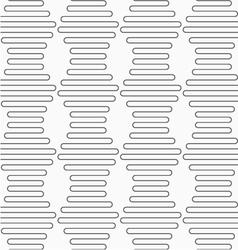 Slim gray vertical hexagonal waves vector image