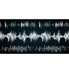 Sound wave on a dark background vector