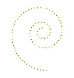 Spiral pattern of golden dots vector