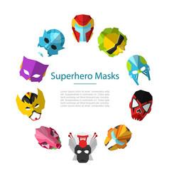 Star wars alien masks circle frame vector