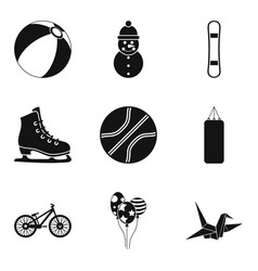 Stripling sport icons set simple style vector
