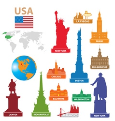 Symbols city usa vector