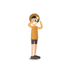tourist people in flat style vector image