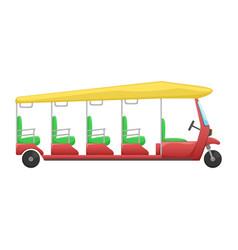 tuk tuk a flat cartoon asian public transport vector image
