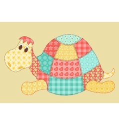 Turtle patchwork vector image