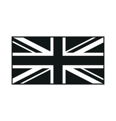 United Kingdom Flag monochrome on white background vector image