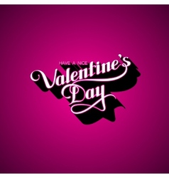 Valentines Day retro label vector image