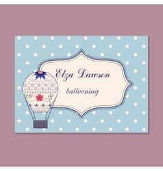 Vintage business card for ballooning vector