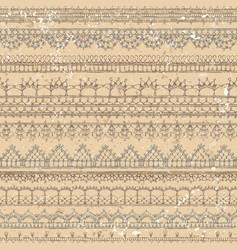 Vintage crochet seamless pattern vector