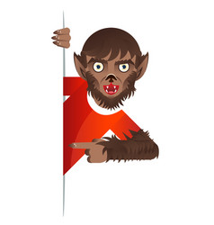 Werewolf costume role character halloween party vector