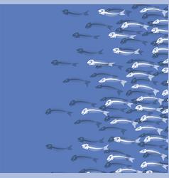 white fish bone skeleton sea fishes icons vector image