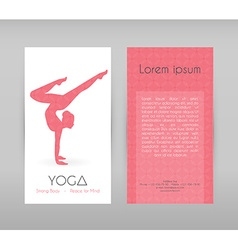 Woman doing yoga asanas vector