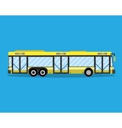 Yellow city bus public transportation vector image