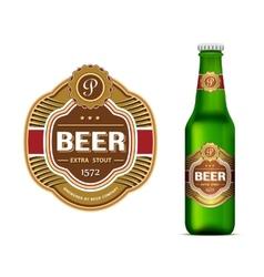 Beer label template vector image vector image