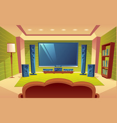 cartoon home theater audio video system vector image vector image