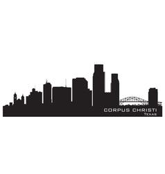 Corpus Christi Texas skyline Detailed silhouette vector image vector image