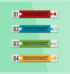 jigsaw design template info graphic vector image