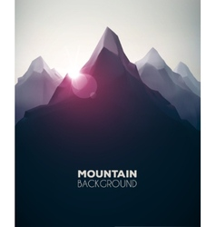 Mountain Background vector image vector image