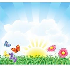 Spring Field vector image vector image
