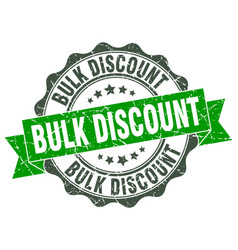 Bulk discount stamp sign seal vector