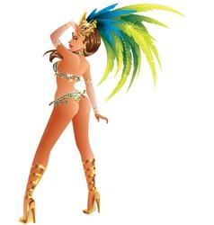 Carnival Dancer vector image vector image