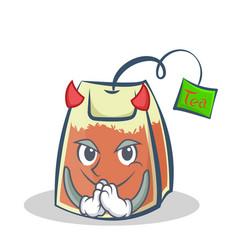 devil tea bag character cartoon art vector image vector image