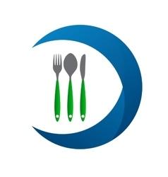 Restaurant menu label template vector