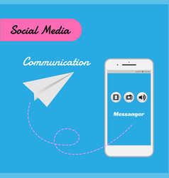 smart phone for social media for communication vector image vector image