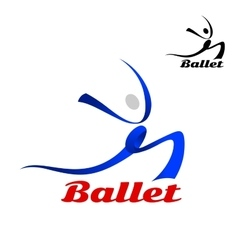 Stylized flowing ballet icon of a dancer vector image