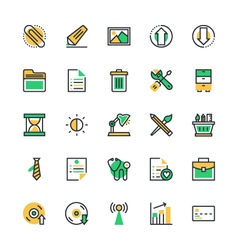 User Interface and Web Colored Icons 5 vector image vector image
